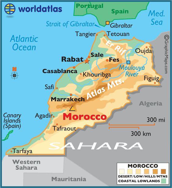 Cartina Geografica Fisica Del Marocco.On The Road In Marocco Alla Scoperta Di 4 Climi Meteotrip